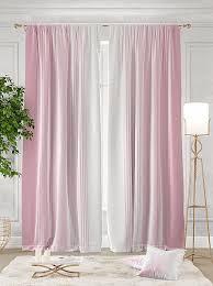 Купить комплект штор «<b>Ланджит</b> (<b>розовый</b>)» розовый, белый по ...