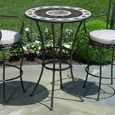 bar height patio chair: bar height patio furniture with round height patio table and  height patio chairs
