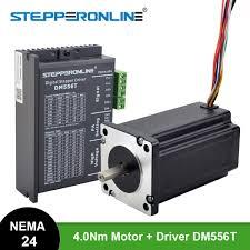 <b>1 Axis</b> Stepper <b>CNC Kit</b> 4.0Nm(566oz.in) Nema 24 Stepper Motor ...