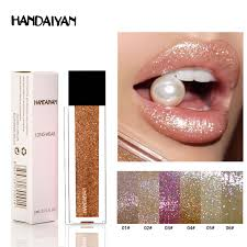 New Makeup <b>HANDAIYAN Diamond</b> Shining <b>Glitter Lip Gloss</b> Tint ...