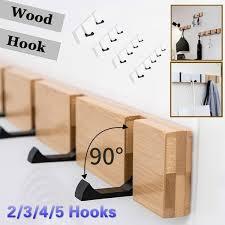 New <b>Wall</b> Mount Coat <b>Hook</b> for Home <b>SOLID WOOD</b> Coat Hangers ...