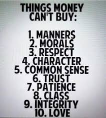 is money everything in life  what do you think money cannotbuy  notes u