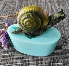 DW0141 <b>PRZY silicone</b> mold <b>soap</b> mould 3D animals snails image 3