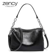 Zency Fashion Female Shoulder <b>Bag 100</b>% <b>Genuine Leather</b> ...