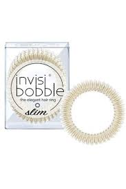 Buy <b>Invisibobble SLIM Stay</b> Gold Hair Ties 3 Pack from the Next UK ...