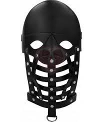 <b>Маска</b>-<b>шлем</b> с полосками из кожи <b>Leather Male Mask</b>