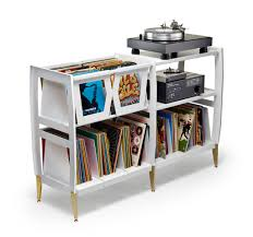 the newest addition to our premier line of vinyl access units is the lp h vinyl record and stereo component console put your favorite albums right next to front shot finished vinyl record