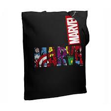 Купить Холщовая <b>сумка Marvel Avengers</b>- черная по выгодной ...