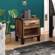 Trent Austin Design® Harrah's 1 - Drawer <b>Solid</b> Wood <b>Nightstand</b> in ...