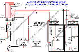 Wiring Diagram Of House Electrics   Wiring Schematics and DiagramsHouse Wiring Diagram Automatic Ups System Electrical Home Or Office