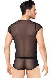 SoftLine <b>Мужской костюм</b>-<b>сетка с</b> полосками, чёрный - Condom ...