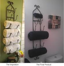 guest bathroom towels: so when i saw a pin on pinterest where you can store towels on a wine