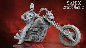 <b>Ghost</b> Biker - 3D Model for 3D <b>Printing</b> | www.malix3design.com ...