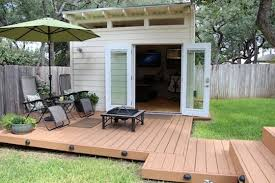 vanessas small and smart world shedquarters backyard office shed lifework apartment therapy backyard office shed