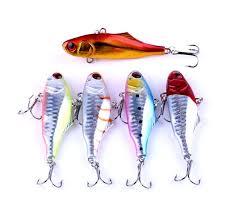 New 3D Eyes VIB Laser fishing lure 7cm <b>24g 5colors</b> Colorful Hard ...