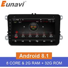 <b>Eunavi 2 DIn</b> Car DVD <b>8</b>' HD For VW POLO GTI GOLF 5 6 MK5 MK6 ...