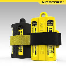 Original Nitecore 18650 Battery case <b>Nitecore NBM40 Silicon case</b> ...