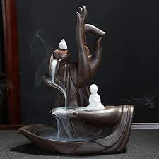 Buddha Backflow Incense Holder, Home Lous ... - Amazon.com