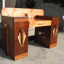 majestic art deco furniture style for home office table added drawer and doors art deco office furniture