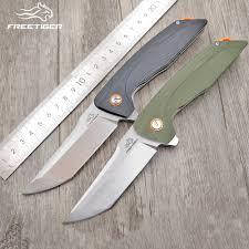 <b>NEW FREETIGER</b> FT904 Folding <b>Knife</b> with Real D2 <b>Blade</b> G10 ...