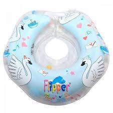 <b>Надувной круг</b> на <b>шею</b> для купания малышей Flipper Лебединое ...