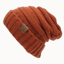 <b>13 Colors</b> Women <b>Winter Warm</b> CC Beanie Labeling Hats Wool ...