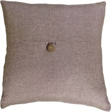 amazoncom decorative button brown throw pillow cover  home