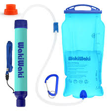 SimPure Gravity Water Filter Straw, <b>Portable Water Purifier</b> with 3L ...