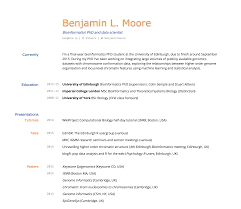 building an academic cv in markdown · blm io i like the whitespace and clear separation of headings dates and details the underlying css layout has some technical issues the relative positions can