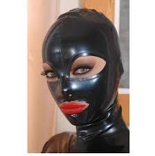 <b>Sexy</b> Full Face Natural <b>Latex Hood Open</b> Eye Mouth for Women ...