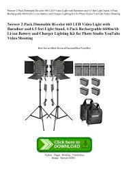Neewer <b>2</b>-<b>Pack</b> Dimmable Bi-color 660 LED Video Light with ...