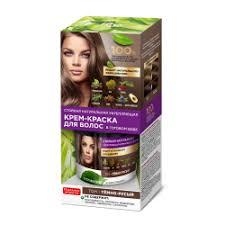 Стойкая натуральная укрепляющая крем-<b>краска для волос</b> Fito ...