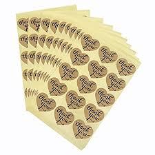 Stickers,<b>Thank You</b> Stickers <b>Labels</b>,150 PCS Heart Stickers,4CM ...