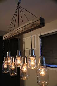 unique mason jar light chandelier pendant ceiling 7 jars vintage look 28000 via etsy chandeliers and pendant lighting