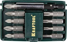 """<b>Набор бит</b> """"<b>COMPACT</b>-<b>10</b>"""" с магнитным адаптером, <b>KRAFTOOL</b> ..."""