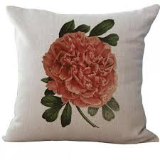 2016 new arrival european style colorful flowers printing linen throw pillow case couch office seat waist cheap office sofa