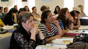 refugees taking shelter in san diego face adaptation challenges refugees in san diego attend a class at the kurdish human rights watch to learn english