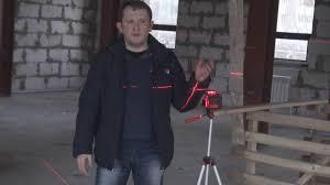 <b>Лазерный уровень ADA</b> CUBE 2-360. Обзор на стройке. - YouTube