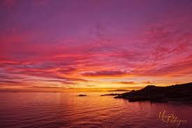 Resultado de imagen de puesta de sol en el mar