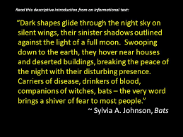 descriptive essay dark shapes glide through the night sky on  dark shapes glide through the night sky on silent wings their sinister shadows outlined