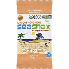 Seasnax Organic Premium <b>Roasted Seaweed</b> Snack <b>Toasty Onion</b> ...