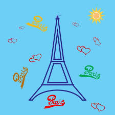 T shirt typography graphic with quote Paris and <b>eiffel tower</b>. <b>Fashion</b> ...