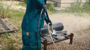 Гидропескоструйная очистка металла <b>аппаратом Посейдон</b> E15 ...