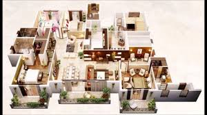 awesome two bedroom apartment d floor plans video dailymotion awesome 3d floor plans