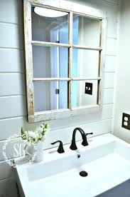 powder room ideas european farmhouse powder room reveal window pane mirror stonegableblogcom