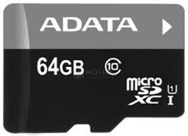 Нотик: Карта памяти A-Data microSDHC 64Gb Class10 ...