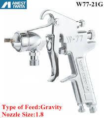 China Anest Iwata Pneumatic <b>Spray Gun Gravity</b> Feed 1.8 Nozzle ...
