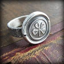 Four Leaf Clover Wax Seal Ring Four Leaf Clover Wax Seal Ring
