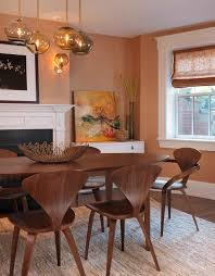 dining room decorating in transitional style using modern rug round dining table island casual dining room lighting