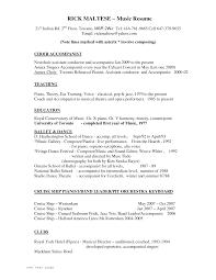 music resume template   camgigandet orgmusical theatre resume tch dpv